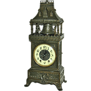 Antique French  Automation Marti & Cie Striking Mantel Clock
