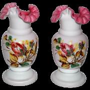 Art Glass Cased Satin Glass Vases