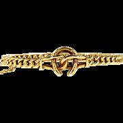 Antique Victorian Bangle Bracelet with Bridle and Horseshoe Motif, 15k Gold