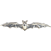 Antique Silver Bat Brooch Pin