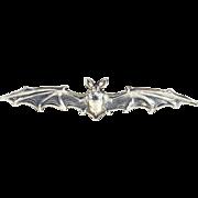 Antique Silver Bat Brooch Pin