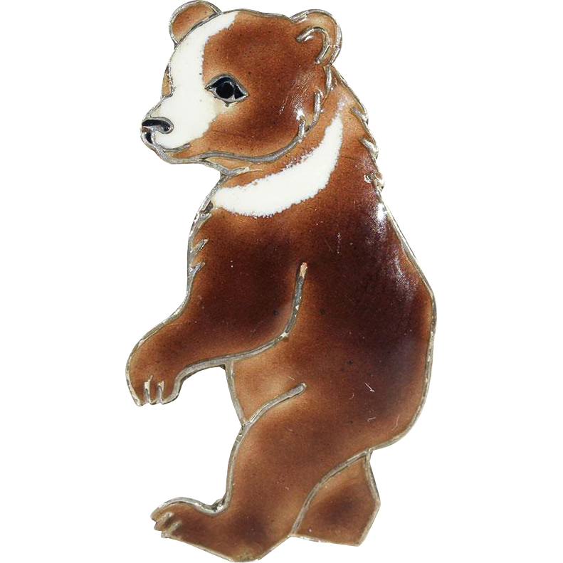 Dancing bear pin-3172