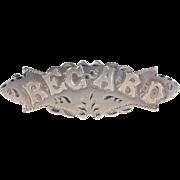 Antique Edwardian Silver 'Regard' Brooch Pin