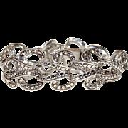 Sparkly Vintage Art Deco Marcasite and Silver Bracelet