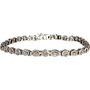 Vintage French Art Deco Diamond Line Bracelet, 10+ctw, Stunning and Unusual!