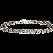 Vintage French Art Deco Diamond Line Bracelet, 10+ctw, Stunning and Unusual!