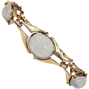 Arts & Crafts Merrle, Bennett and Co. Gold Moonstone Bracelet