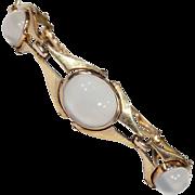 Arts & Crafts Merrle, Bennett and Co. Gold Moonstone Bracelet