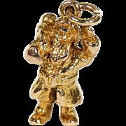 Vintage English Santa Claus Charm in 9k Gold