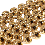 Antique Hand Crafted Chain, 14k Gold with 9k Gold Clasp