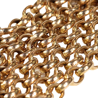 Antique 9k Rose Gold Chain, 20.5 inches long