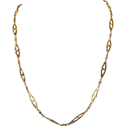 Antique French Chain Necklace in 18k Gold