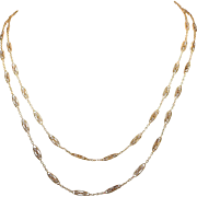 Victorian 18 Karat Gold Seed Pearl Chain