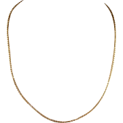 Antique Edwardian Chain, 17 inches, Barrel Clasp
