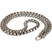 Victorian Silver Wide Link Chain Collar