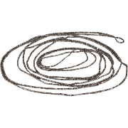 Antique Cut Steel Long Gaurd Chain Necklace, 86 inches, c. 1870