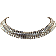 Victorian Sterling Silver Collar Antique c. 1890