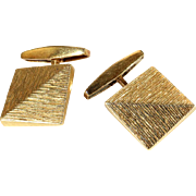 Vintage French Cufflinks in 18k Gold, Circa 1960
