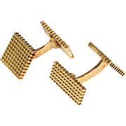 Vintage French Retro Cufflinks in 18k Gold, for the Stylish Gentleman