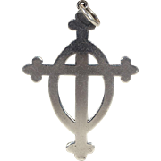 Vintage English Presbyterian Cross in Sterling Silver, Hallmarked 1933