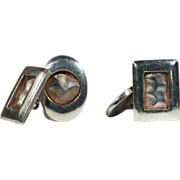 British Mod Vintage Sterling Silver Cufflinks, London 1973