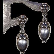 Vintage Georg Jensen Silver Acorn Earrings