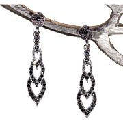 Vintage Silver Marcasite Earrings