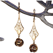 Antique Edwardian Gold Drop Earrings
