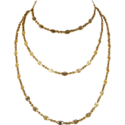 Antique French 18k Gold Long Guard Chain c. 1900