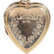 Antique Heart Locket in 9k Rose Gold, Edwardian, Hallmarked 1912
