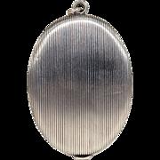 Antique Victorian Silver Slide Mirror Locket