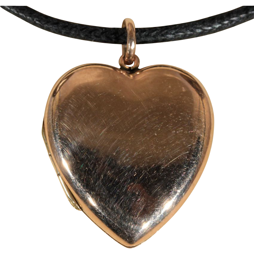 Antique Edwardian Heart Locket, 9k Gold c.1910