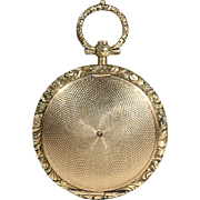Early Victorian Gold Memorial Locket