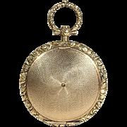 Early Victorian Gold Memorial Locket