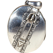Victorian Silver Locket Buckle Motif