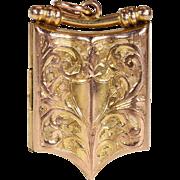Victorian Engraved Gold Locket 1905