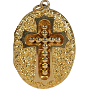 Victorian Cross Locket 15 karat Gold