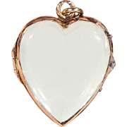 Victorian Gold Frame Crystal Heart Locket