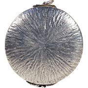 Antique Victorian Sand Dollar Shaped Silver Locket
