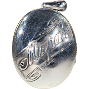 Antique Victorian Silver 'Mizpah' Locket Pendant