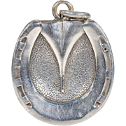 Victorian Horseshoe Silver Locket