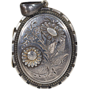 Antique Victorian Flower Locket c. 1880