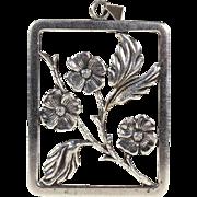 Vintage Scandinavian Midcentury Modern Pendant with Dogwood Flowers