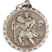 St. Christopher Sterling Silver Round Pendant by Georg Jensen Ltd
