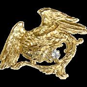 Fabulous Antique 18k Gold Griffin Pendant with Diamond