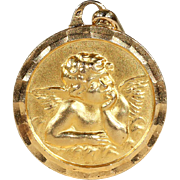 Vintage French Art Deco Angel in 18k Gold