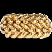 Wonderful Antique Men's Keeper Ring in 18k Gold, English Victorian Hallmarked