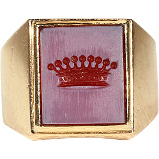 Antique French Intaglio Ring, Count's ring