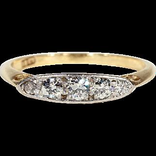 Antique Edwardian 5 Stone Diamond Ring, Stacking