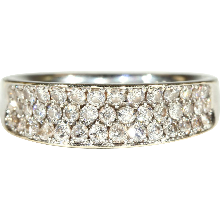 Vintage 18k Diamond Wedding Band c.1960, *Video*
